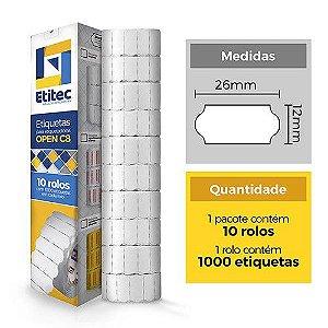 Etiqueta Open C8/MX2612 Neutra - Etitec