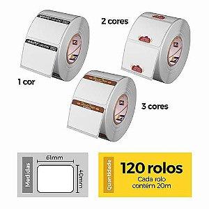 Etiqueta Térmica 40x60 Personalizada - 120 Rolos - Etitec