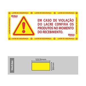 Lacre de Segurança para Embalagens em Geral - Etitec