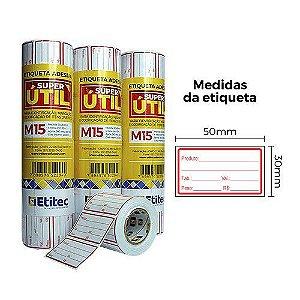 Etiqueta Super Útil M15 - Etitec