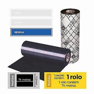 Fita para Impressão (Ribbon) Resina Premium 110x74 - Etitec