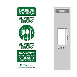 Lacre de Segurança para Restaurantes - Etitec