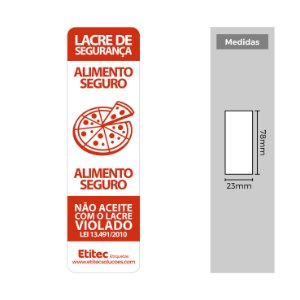 Lacre de Segurança para Pizzarias - Etitec