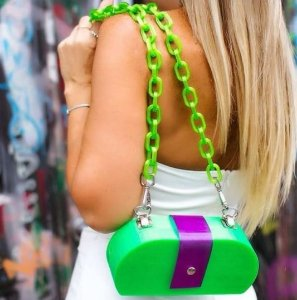 Bolsa de Ombro Verde Neon
