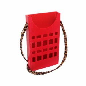 Porta Celular Vazado Vermelho Vazado Decote Frontal