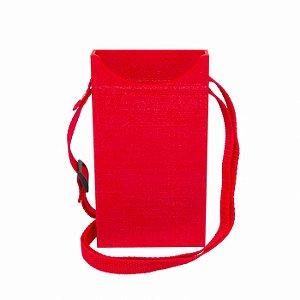 Porta Celular Básico Vermelho Decote Frontal