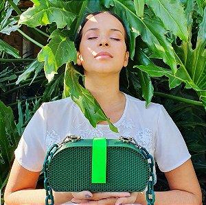 Bolsa Clássica verde Texturizada