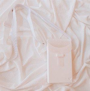 Porta Celular Branco Fechado