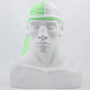 Bandana Durag Tradicional Meio a Meio Verde Neon e Branca