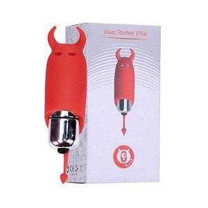 Vibrador Cápsula Diabinho com 10 Vibrações Vermelho