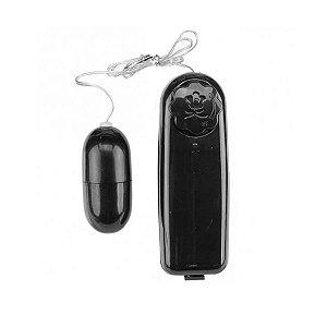 Vibrador Bullet Cápsula Controle Remoto com Fio Preto