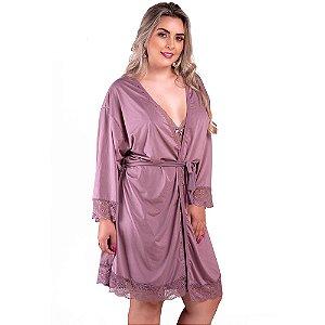 Robe Plus Size Lilás - 4002