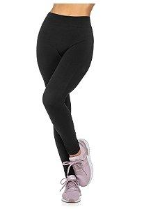Calça Legging Fitness Comfy Vibe Sem Costura Preta - 6001