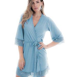 Robe Feminino em Microfibra Azul - 4022