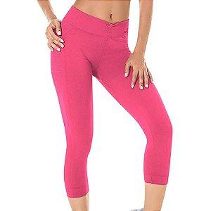 Legging Fitness Corsário Sem Costura Rosa - 0222