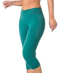 Legging Fitness Corsário Sem Costura Verde - 0363
