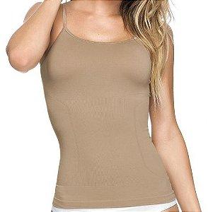 Regata Slim Modeladora Sem Costura Bege - 0392