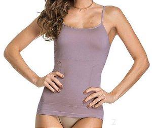Regata Slim Modeladora Sem Costura Roxa - 0393