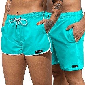 Short Jon Cotre Aqua Kit Casal