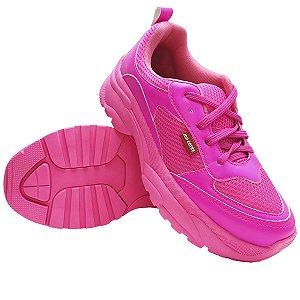 Tênis Feminino Chunky Neon Rosa