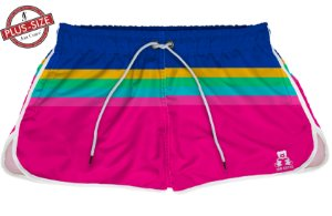 Short Bermuda Jon Cotre Plus Size Feminino Vintage Pink