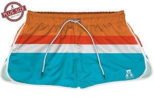 Short Bermuda Jon Cotre Plus Size Feminino Retro Orange colors