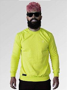 Suéter moletom careca verde neon  Jon Cotre – Unissex Adulto