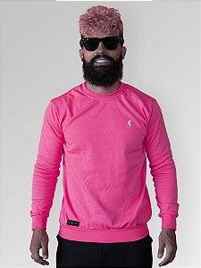Suéter Moletom Careca Rosa Neon  Jon Cotre – Unissex Adulto