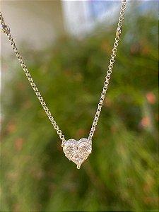 Colar Heart em ouro branco e diamantes