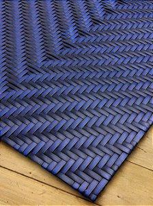 Tapete Contempos Losango 10 Fibra Sintética Dark Blue - 0,45 x 1,50