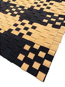 Tapete Tramado de Lona Fita 25 - Amarelo e Preto 1,50 X 2,00