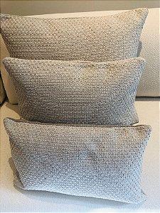 Conj 3 Capas Almofadas Caetés - cinza claro - (50X30) + (50X50) + (60X60)