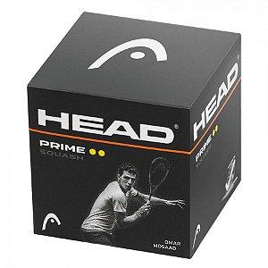 Bola Head Squash Prime individual - 2 pontos amarelos