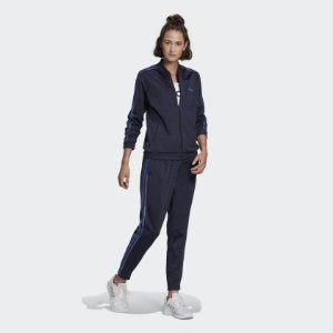 Conjunto Adidas 3 Listras Legend Ink/Crew Blue