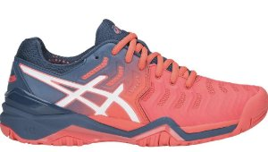 Tênis Asics Gel Resolution 7 Papaya e Azul