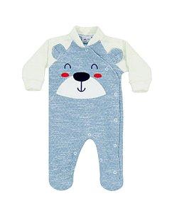 Macacão Bebê Inverno Ursinho Cute