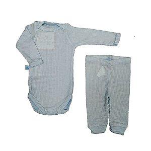 Pijama Bebê  Body e Calça canelado
