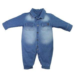 Macacão Bebê Jeans