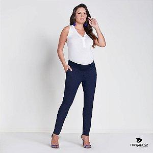 Calça Gestante Skinny Jeans Marinho