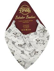 Babador bandana impermeável estampado