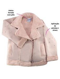 Jaqueta inverno menina Suede forrada