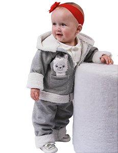 Conjunto Bebê Menina Inverno Lhama