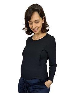 Blusa Gestante com abertura lateral para amamentação