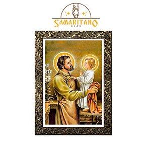 Quadro São José Operário com Menino Jesus