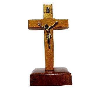 Crucifixo Madeira São Bento 9cm