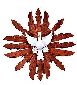 Divino Madeira com Flores 50 cm