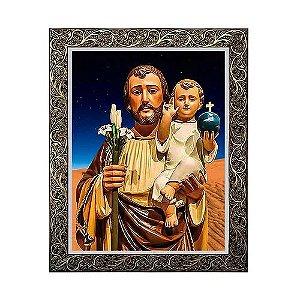 Quadro São José com Menino Jesus 3