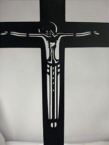 Cruz Preta em MDF Grande 60cm