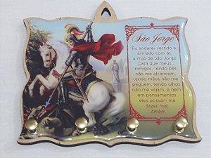 Porta Chaves Terçário São Jorge MDF Resinado