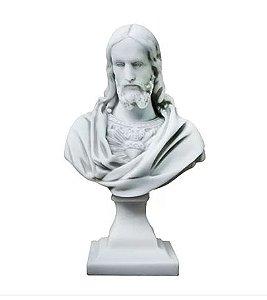 Sagrado Coracao de Jesus Busto Mármore 26 Cm